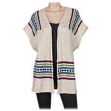 Natural Reflections Open-Front Beach Cardigan for Ladies
