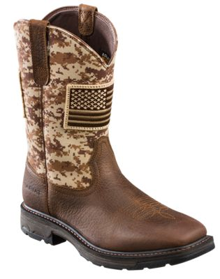 4a2865866c7 Ariat WorkHog Patriot Wide Square Toe Pull On Work Boots for Men ...