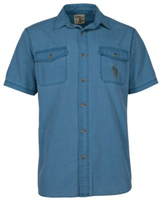 a42677db RedHead Washed Bass Shirt for Men Blue Wing L