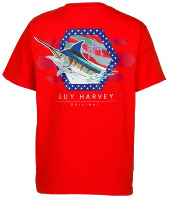 cd013535a344 Guy Harvey Resolution T Shirt for Kids Lava M Youth
