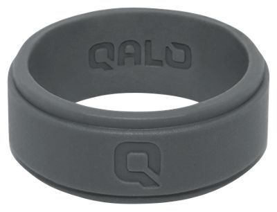 QALO Charcoal Step Edge Q2X Silicone Ring for Men - 8