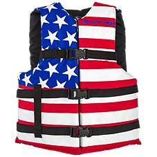 Bass Pro Shops American Flag Adult Recreational Life Jacket