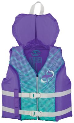 \u200bXPS Hinged Water Ski/Recreational Life Jacket for Youth (Canada version) - Purple
