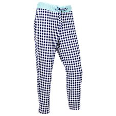 Natural Reflections Gingham Jogger Pants for Ladies