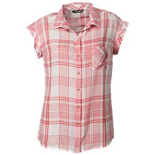 Natural Reflections Sleeveless Plaid Shirt for Ladies