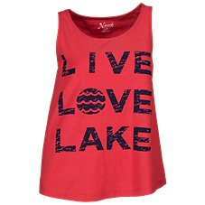 Natural Reflections Live Love Lake Tank Top for Ladies