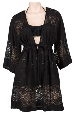 23c58fafb4 Wearabouts by Dotti Gypsy Dance Kimono Swimsuit Cover Up for Ladies Black L