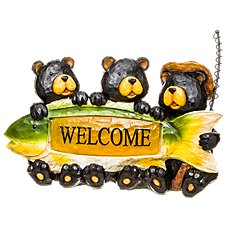 Exhart Solar-Powered Fishermen Bears Welcome Sign