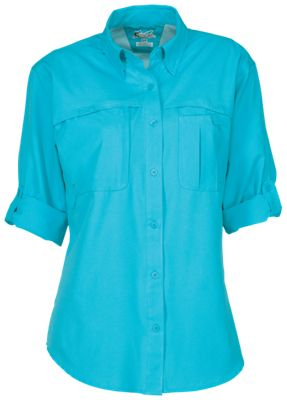World Wide Sportsman Summerland Shirt for Ladies - Scuba Blue - S