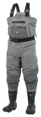 Frogg Toggs Steelheader Reinforced Nylon Insulated Felt Sole Boot-Foot Waders for Men - Slate/Grey - 10M thumbnail