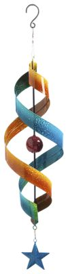 Evergreen Twisted Kinetic Spinner Wind Chime