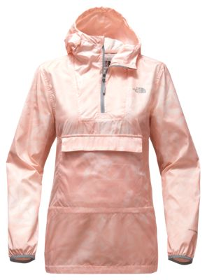 35e1f3cf05a The North Face Fanorak Pullover for Ladies Evening Sand Pink Lupine Print L
