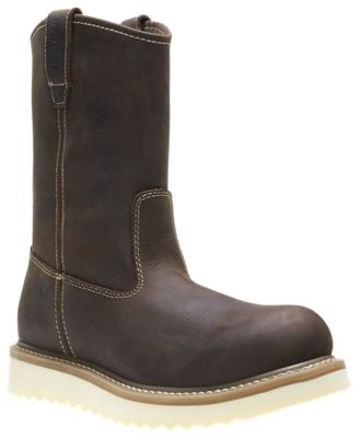 """WOLVERINE Men 10/"""" Boots Pull On Wellington Wedge Oil Resistant Leather"""