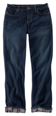 Carhartt Original Fit Blaine Flannel-Lined Jeans for Ladies - Midnight Sky/Storm Gray - 16 Regular