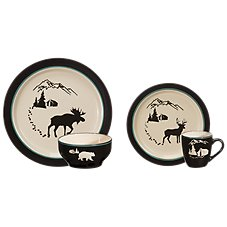 Bass Pro Shops Timberline Cabin 16-Piece Dinnerware Set