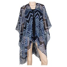 Quagga Sheer Waves Swimsuit Cover-Up for Ladies