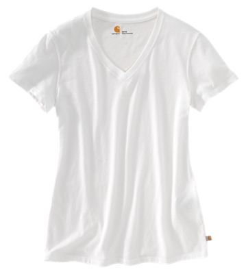 a897cddaf662 Carhartt Lockhart V Neck T Shirt for Ladies White XS
