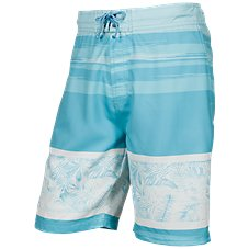 Bass Pro Shops Wave and Palm Print Swim Trunks for Men