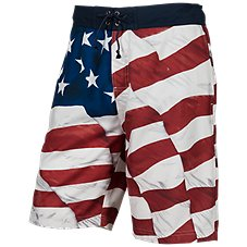 Bass Pro Shops Flag Print Swim Trunks for Men