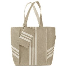 Sun 'N' Sand Accessories Stripe Jute Shoulder Bag