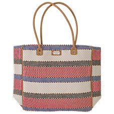 Sun 'N' Sand Accessories Textured Stripe Tote Bag