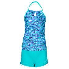 Free Country Ocean Speaks Halter Tankini with Shorts for Girls