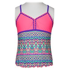 Free Country Calypso Beat Halter Tankini with Shorts for Girls
