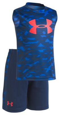 Under Armour Ultra Blue Edge Camo Shirt and Shorts Set for Babies, Toddlers, or Kids