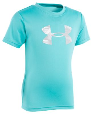 Under Armour Edge Camo Big Logo T-Shirt for Kids – Teal – 5