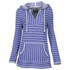 Natural Reflections Baja Stripe Pullover Hoodie for Ladies