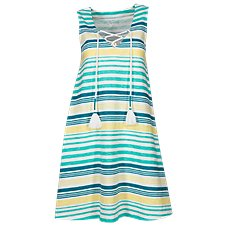 Natural Reflections Stripe Lace-Up Dress for Ladies