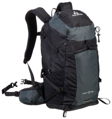 Ascend Drift 33L Hydration Backpack - Black/Forged Iron
