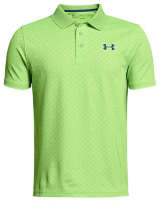 c7818423f Under Armour Novelty Print Performance Polo for Boys PoisonMoroccan Blue XL