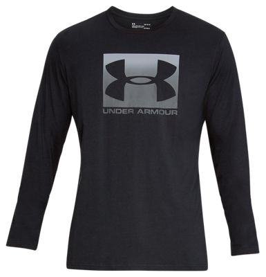 Under Armour Boxed Logo Shirt For Men Black/steel/stealth Gray L