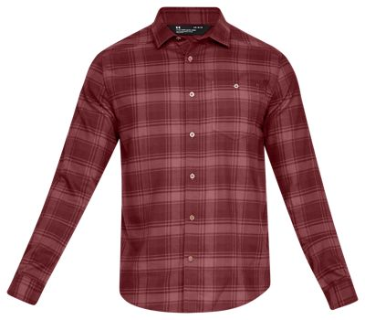 to buy professional search for authentic Under Armour Tradesman Flannel Shirt for Men - Brick Red - M