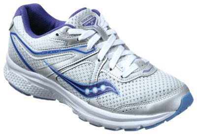 Saucony Cohesion 11 Running Shoes for Ladies - Grey/Purple - 6M