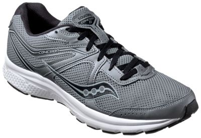 Saucony Cohesion 11 Running Shoes for Men - Gunmetal/Black - 14W