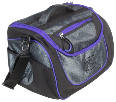 Bass Pro Shops Day Tripper Tackle Bag - Black/Purple - Bag with Five 360 boxes thumbnail