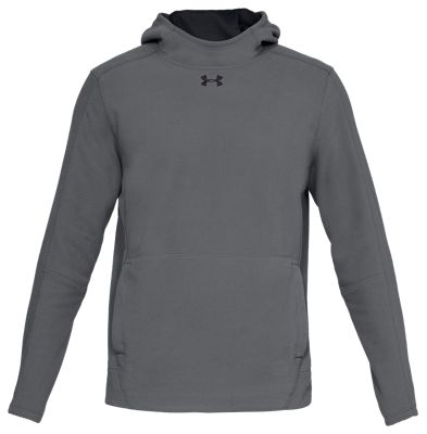 Under Armour Zephyr Fleece Solid Hunting Hoodie for Men – Graphite/Black – L