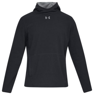 Under Armour Zephyr Fleece Solid Hunting Hoodie for Men – Black/Graphite – XL