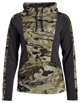 Under Armour Zephyr Fleece Camo Hoodie for Ladies – Ridge Reaper Camo Barren – S