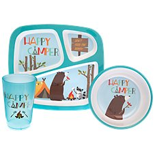 Bass Pro Shops Happy Camper 3-Piece Dining Set for Kids