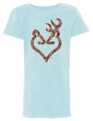 cac09647ba0 Browning Mossy Oak Buckheart T Shirt for Kids Ice BlueMossy Oak Break Up  Country S