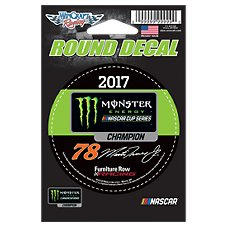 NASCAR Monster Energy Martin Truex Jr. #78 Round Decal