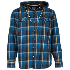 Ascend Yarn-Dyed Hooded Flannel Shirt for Men