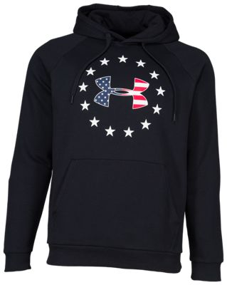 Under Armour Freedom Rival Fleece Logo Hoodie for Men - Black - S