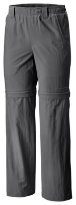 Columbia Backcast Convertible Pants for Kids – Grill – S