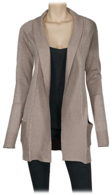 Natural Reflections Paneled Open-Front Cardigan for Ladies - Taupe - XL