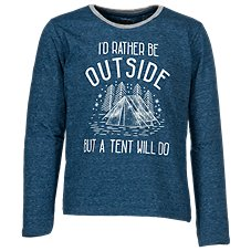 Bass Pro Shops I'd Rather Be Outside Long-Sleeve Shirt for Toddlers or Kids