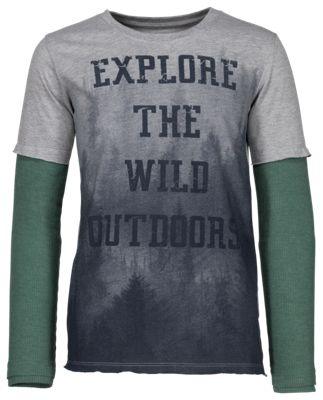 Bass Pro Shops Explore the Wild Outdoors Shirt for Toddlers or Kids - Heather Grey - 4T